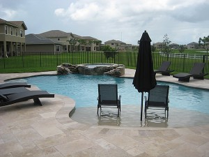 Luxury pools in the ozarks for Walk in swimming pools